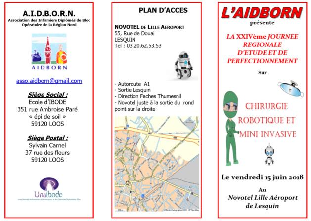 Lille - Vendredi 15 juin - Journée d'étude sur la chirurgie robotique et mini invasive
