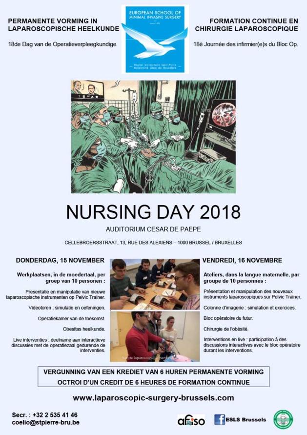Vendredi 16 novembre 2018 - Formation Continue en Chirurgie Laparoscopique (Nursing Day)