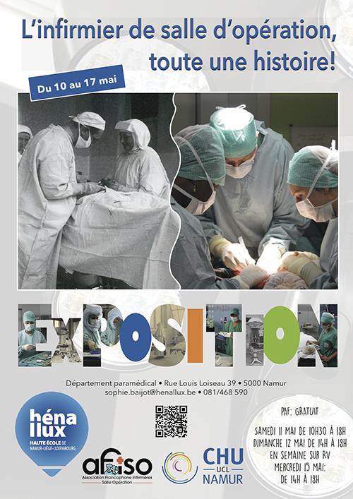 Namur - Exposition : L'infirmier de salle d'opération, toute une histoire! (Henallux)