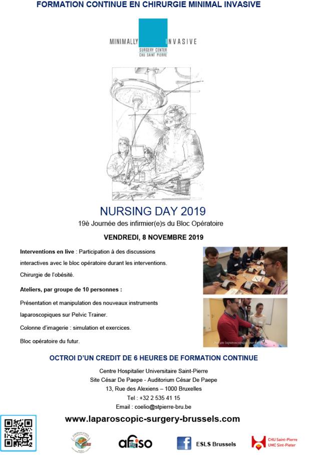 Vendredi 8 novembre - 19ème Journée des infirmier(e)s du Bloc Opératoire en chirurgie minimale invasive