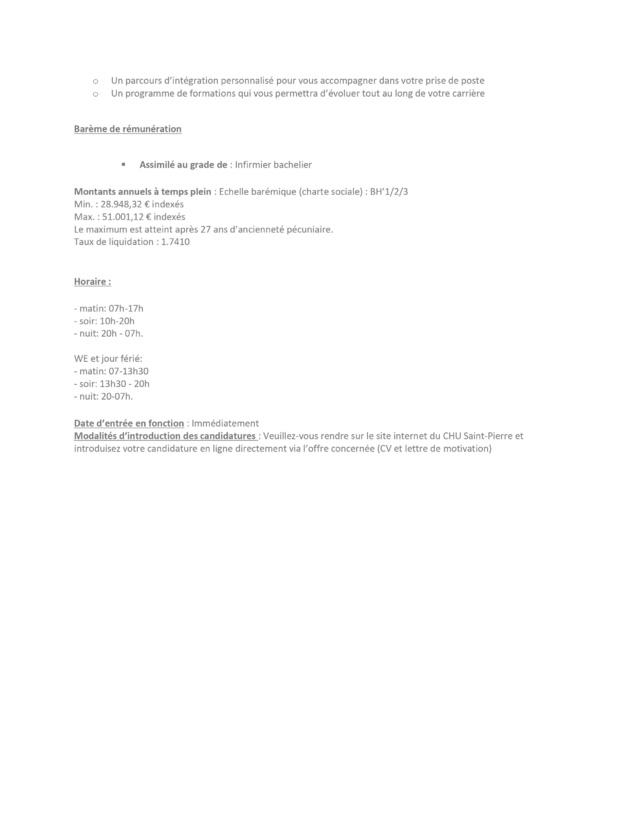 Le CHU Saint-Pierre (Bruxelles) engage un(e) Infirmier(ère) bachelier(ère) pour le quartier opératoire (h/f/x) – CDI 38H