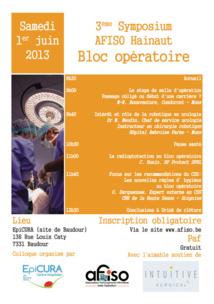 L'AFISO - Régionale du Hainaut organisait son 3ème Symposium le samedi 1er juin 2013