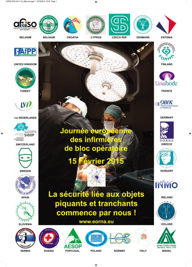 Dimanche 15 février 2015 : Journée européenne des infirmières de bloc opératoire. Bonne fête !