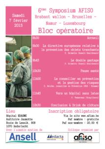 Téléchargez les présentations du 6ème Symposium de la régionale AFISO Namur / Bxl / Brabant / Lux de ce 7 février 2015