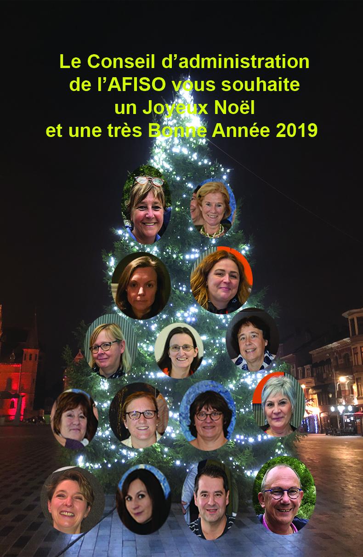 Le Conseil d'administration de l'AFISO vous souhaite une très Bonne Année 2019