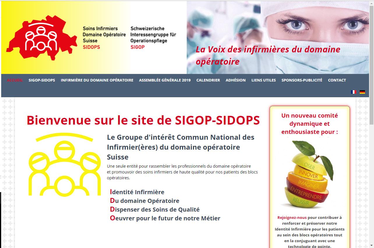 Les infirmières suisses de bloc opératoire ont un nouveau site internet !