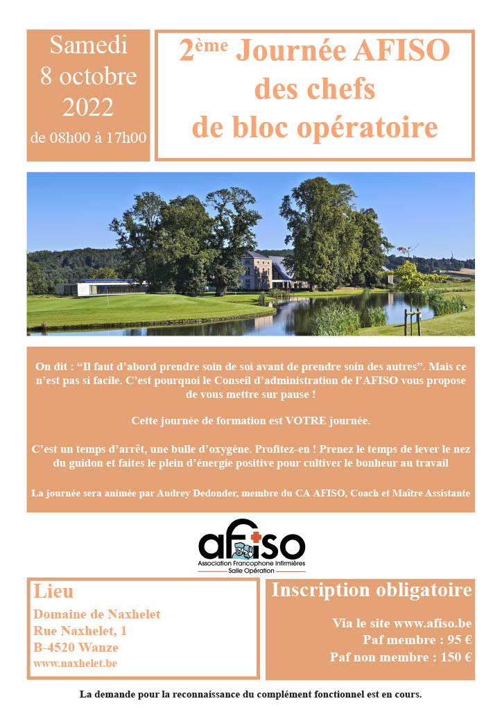 Samedi 9 mai 2020 - 2ème Journée AFISO des chefs de bloc opératoire