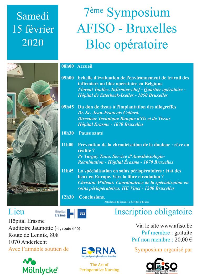 Samedi 15 février 2020 - 7ème Symposium de la régionale AFISO Bruxelles