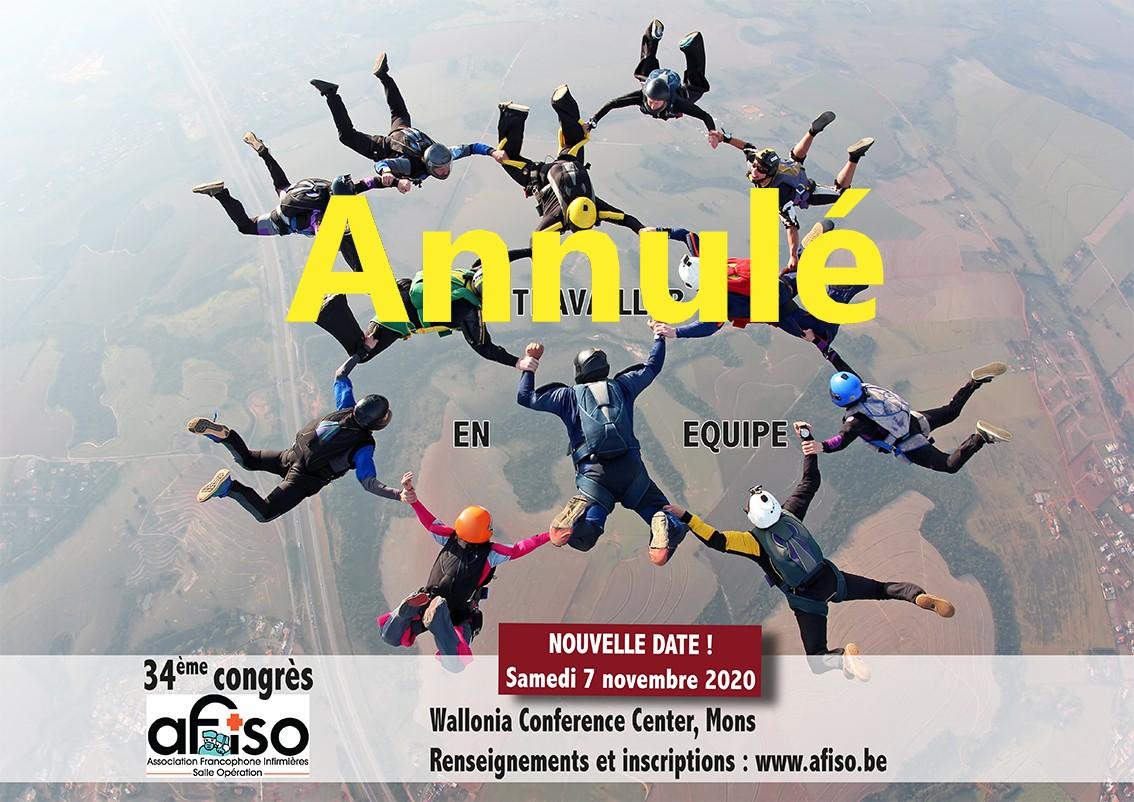 Le 34ème Congrès annuel de l'AFISO est définitivement ANNULé ce samedi 7 novembre 2020