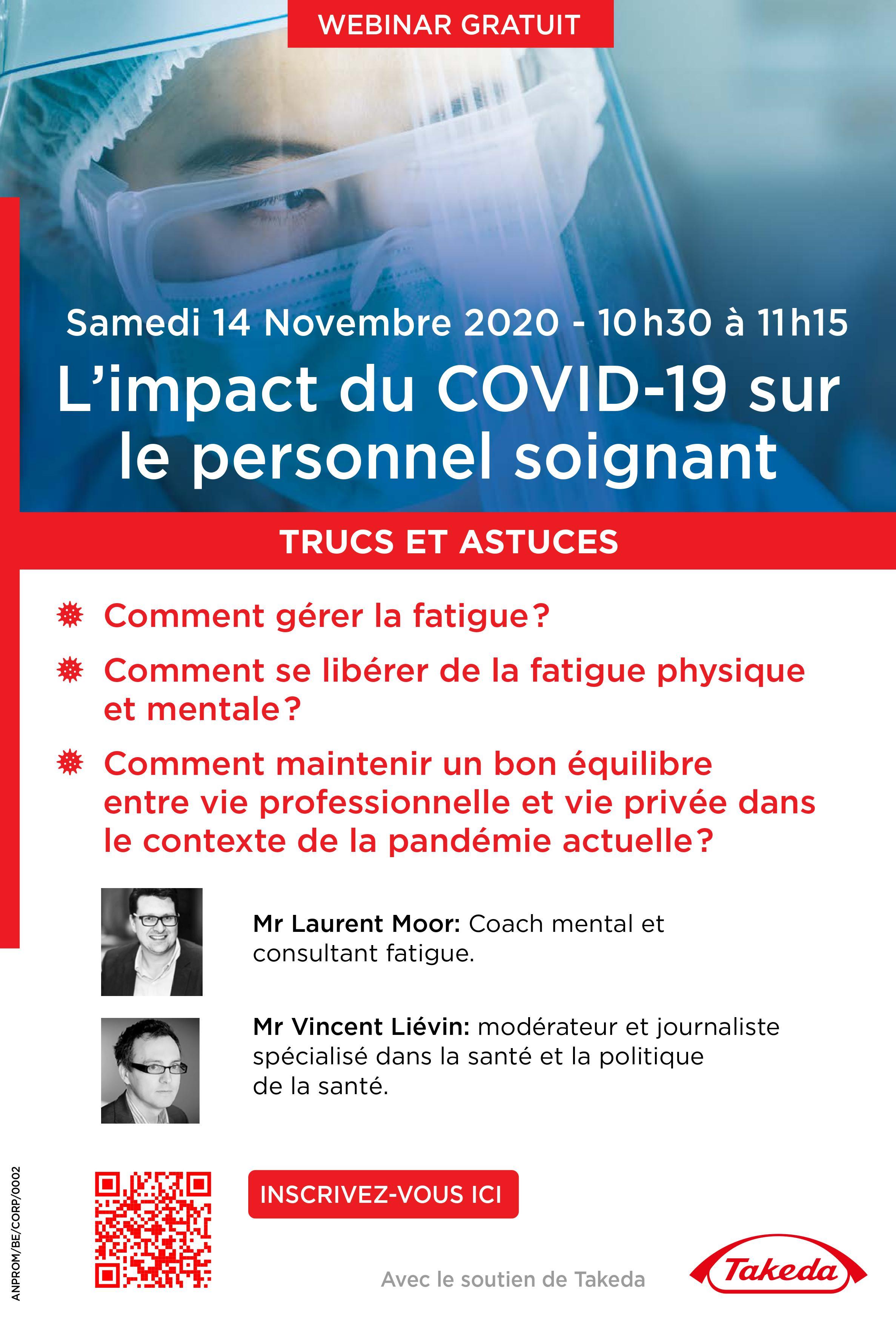 Samedi 14 novembre - Webinar : L'impact du COVID-19 sur le personnel soignant - TRUCS ET ASTUCES