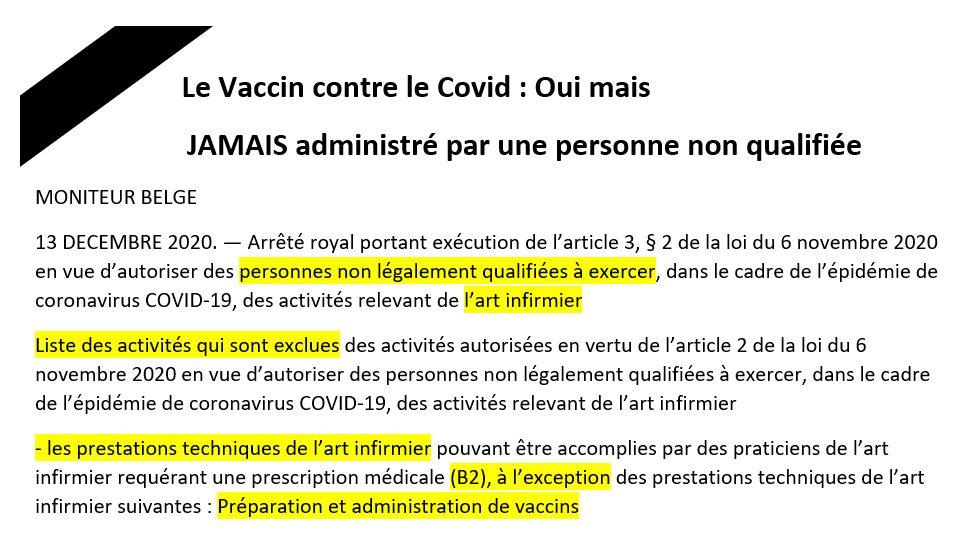 Il y a quelques années l'administration d'un vaccin par une infirmière était interdite sans présence d'un médecin et maintenant n'importe qui peut vacciner. Avant de vous faire vacciner, demandez la qualification de la personne
