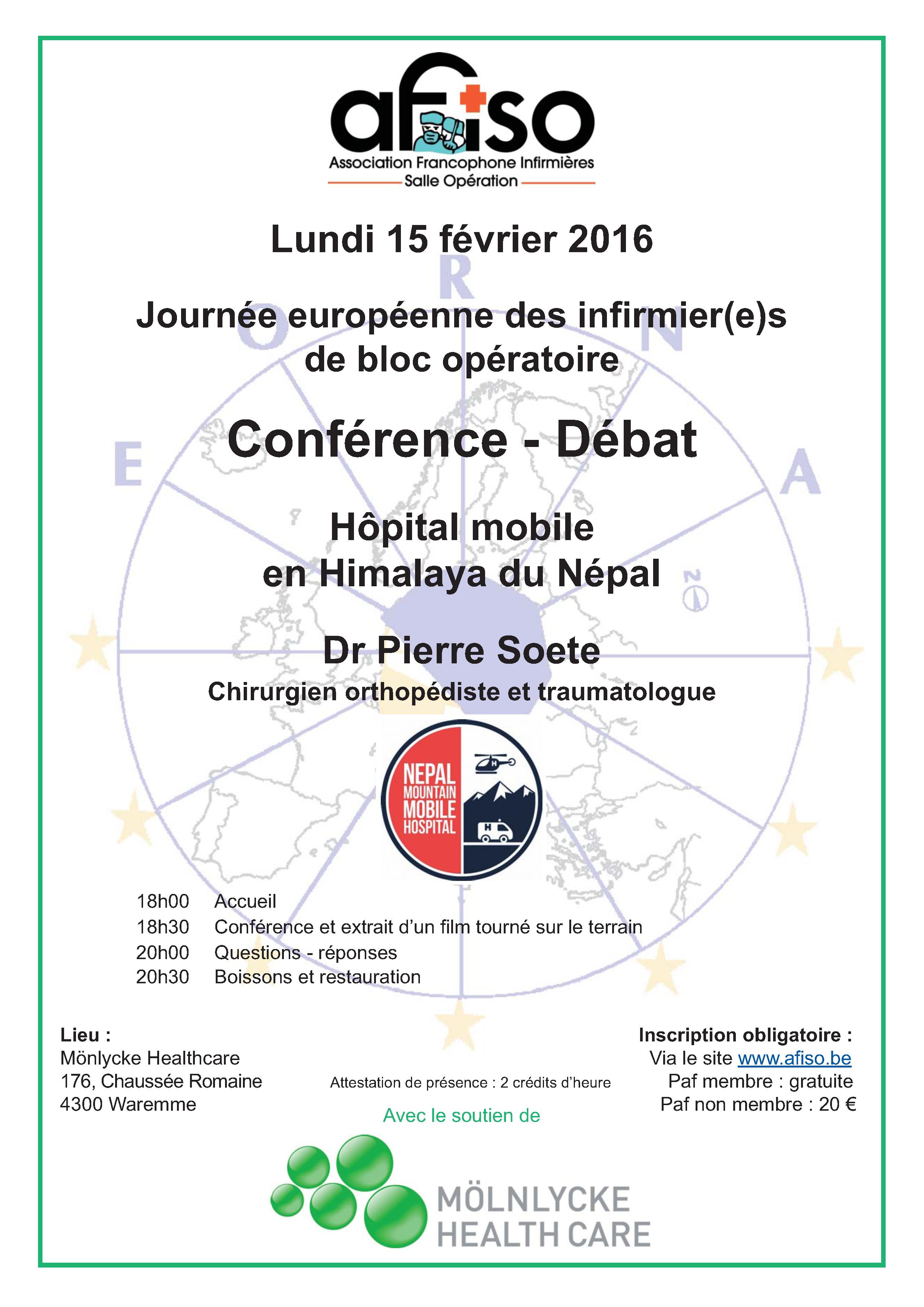 Lundi 15 février 2016 - Journée Européenne des Infirmières de Bloc Opératoire