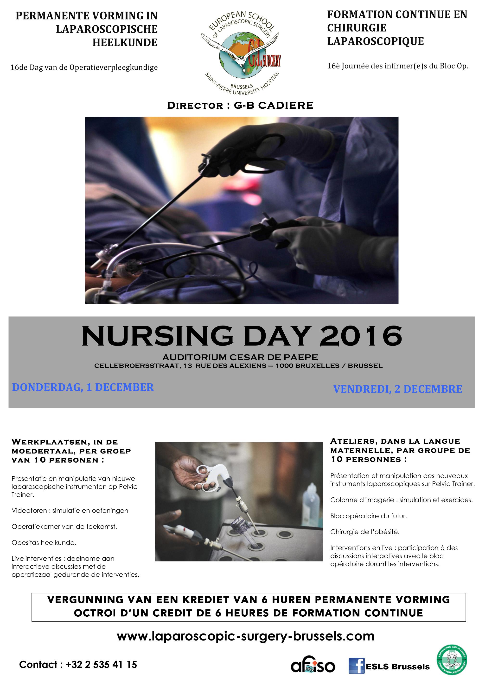 2 décembre 2016 - Formation continue en laparoscopie